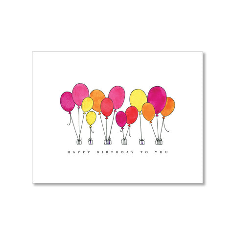 """BRIGHT BALLOONS"" BIRTHDAY CARD"