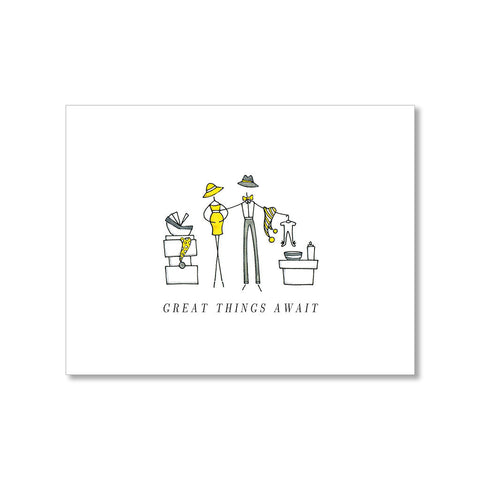 """GREAT THINGS AWAIT"" BABY CARD"