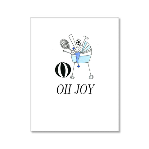"""OH JOY"" BABY CARD"