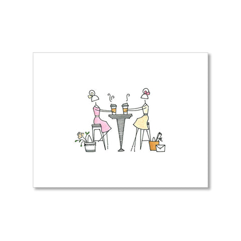 """COFFEE DATE"" BLANK CARD"