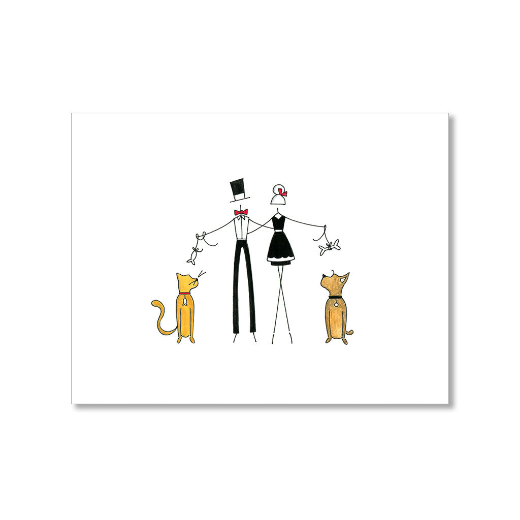 """WITH THE PETS"" BLANK CARD"