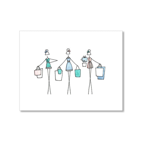 """SHOPPING SPREE"" BLANK CARD"