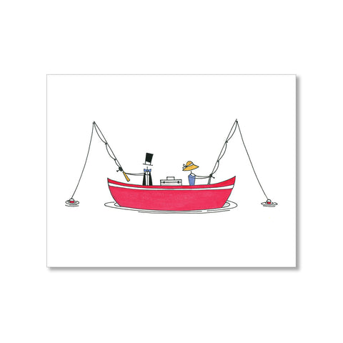 """FISHING DATE"" ART PRINT"