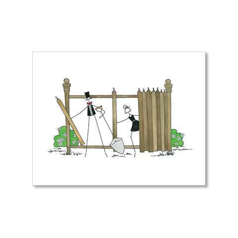 """BUILDING THE FENCE"" BLANK CARD"