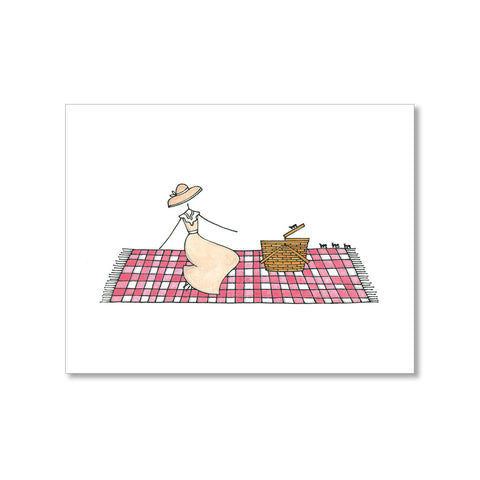 """PICNICKING"" BLANK CARD"