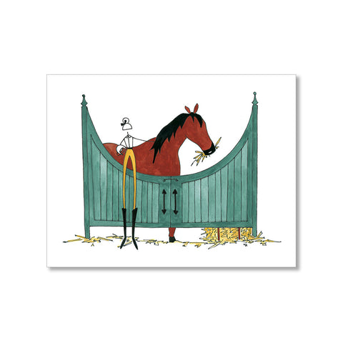"""IN THE STABLES"" BLANK CARD"