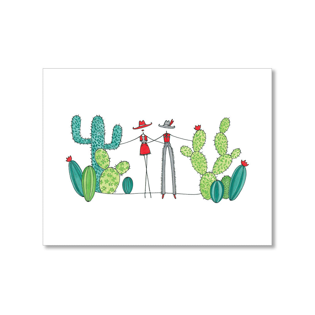 """COWBOYS & CACTI"" BLANK CARD"