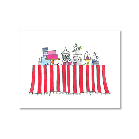 """SWEETS STATION"" BLANK CARD"