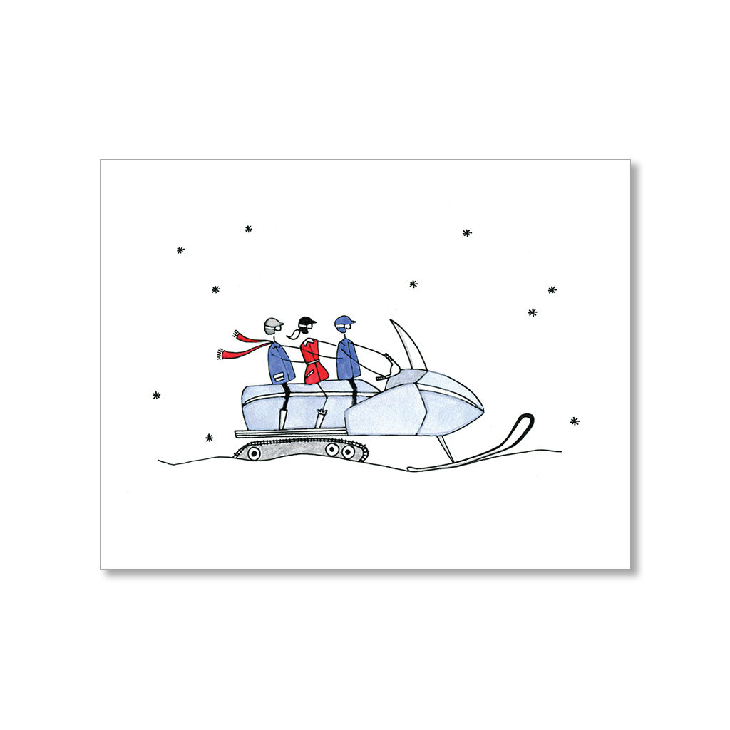 """SNOWMOBILING"" BLANK CARD"