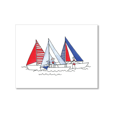"""SAILBOATING"" BLANK CARD"