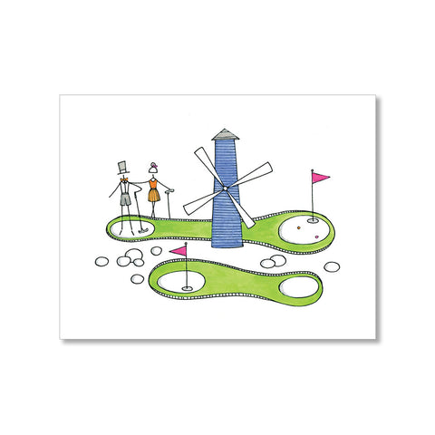 """MINI GOLF"" BLANK CARD"
