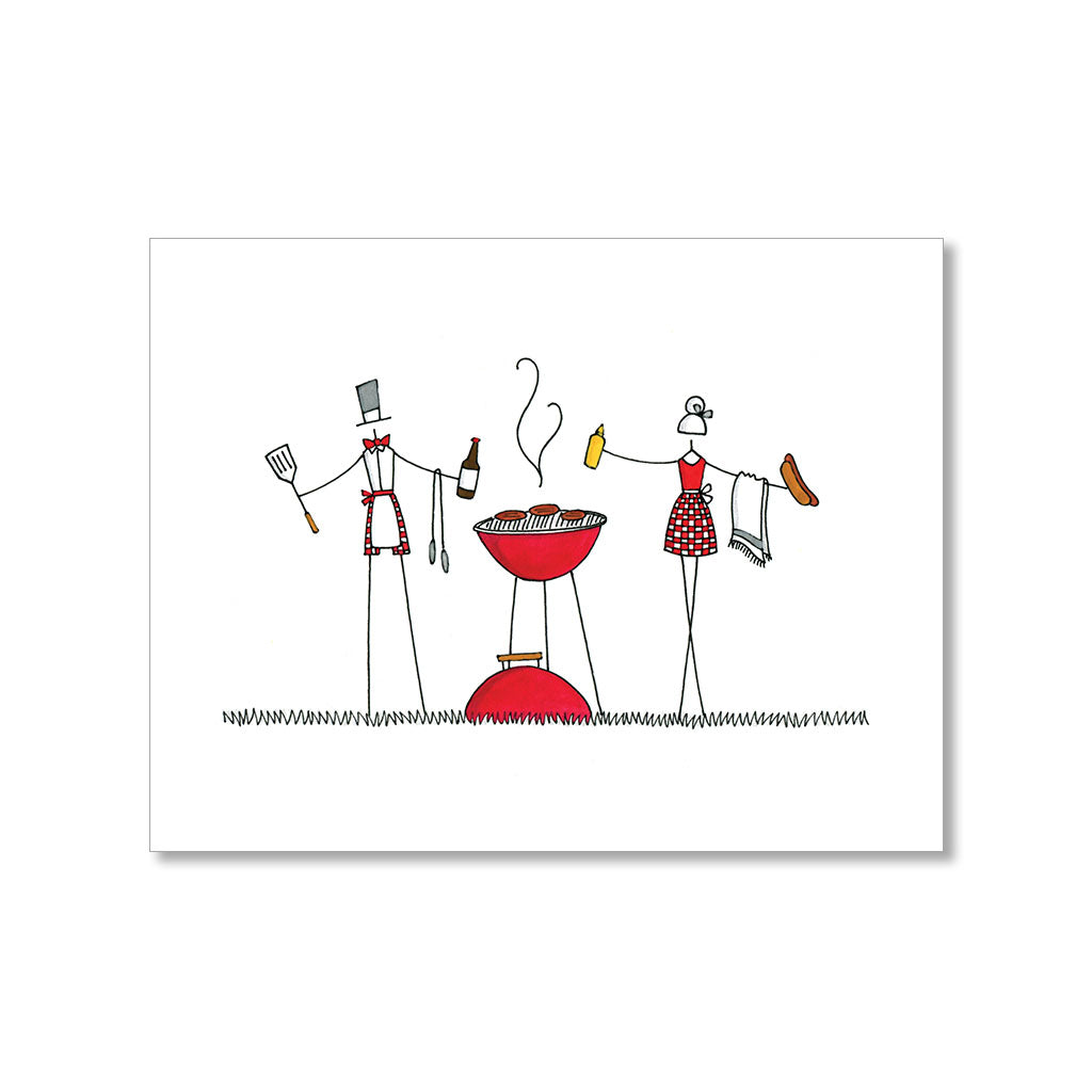 """GRILLING"" BLANK CARD"