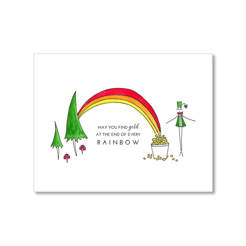 """RAINBOW"" GOOD LUCK CARD"