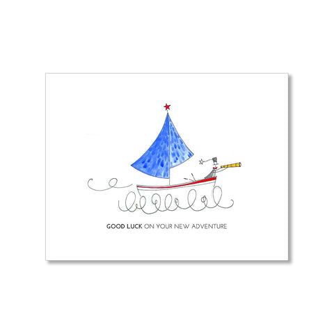 """SAILBOAT"" GOOD LUCK CARD"