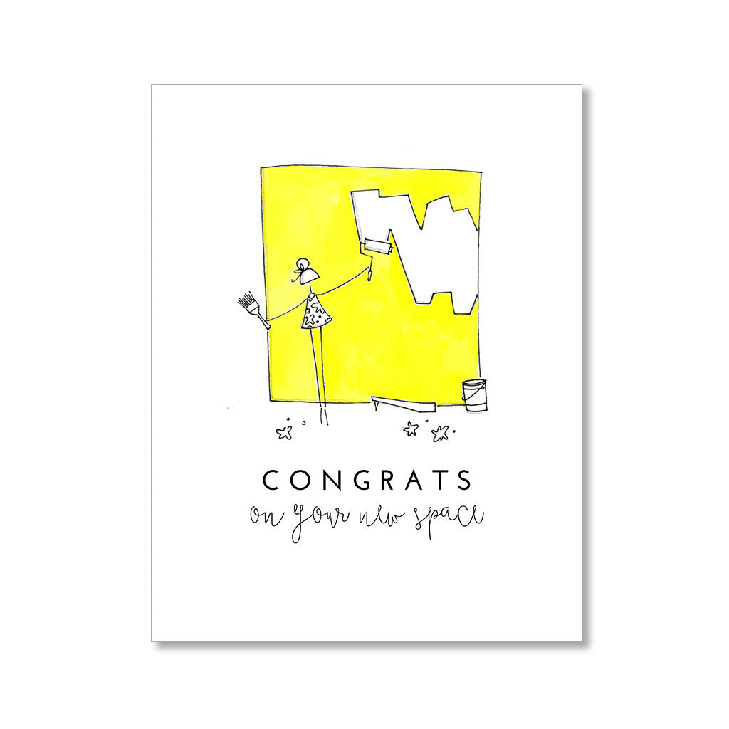 """NEW SPACE"" CONGRATULATIONS CARD"