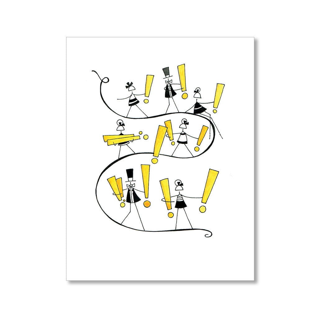 """EXCLAMATION PARADE"" CONGRATULATIONS CARD"