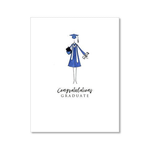 """THE COLORED GOWN"" CONGRATULATIONS CARD"