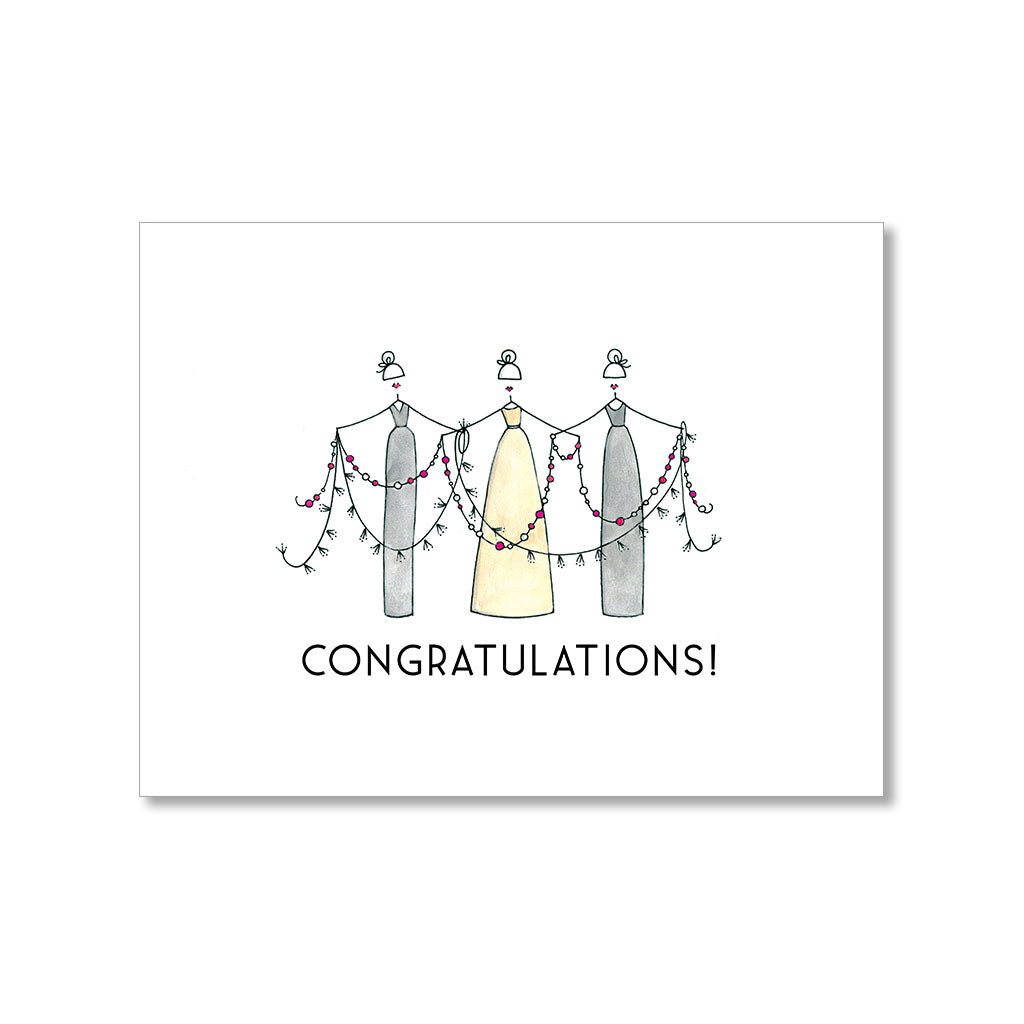 """PARTY GARLAND"" CONGRATULATIONS CARD"