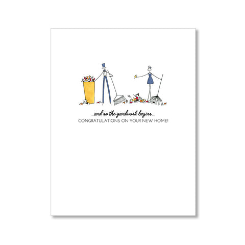 """YARDWORK"" CONGRATULATIONS CARD"