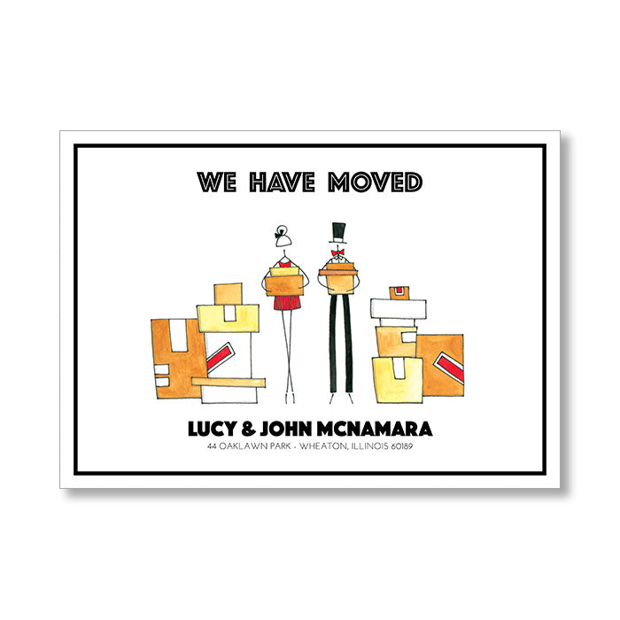 """BOXES & BOXES"" CHANGE OF ADDRESS CARD"