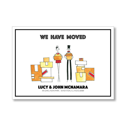"""HAPPY COUPLE"" CHANGE OF ADDRESS CARD"