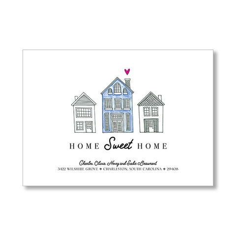 """BLUE HOUSE"" CHANGE OF ADDRESS CARD"