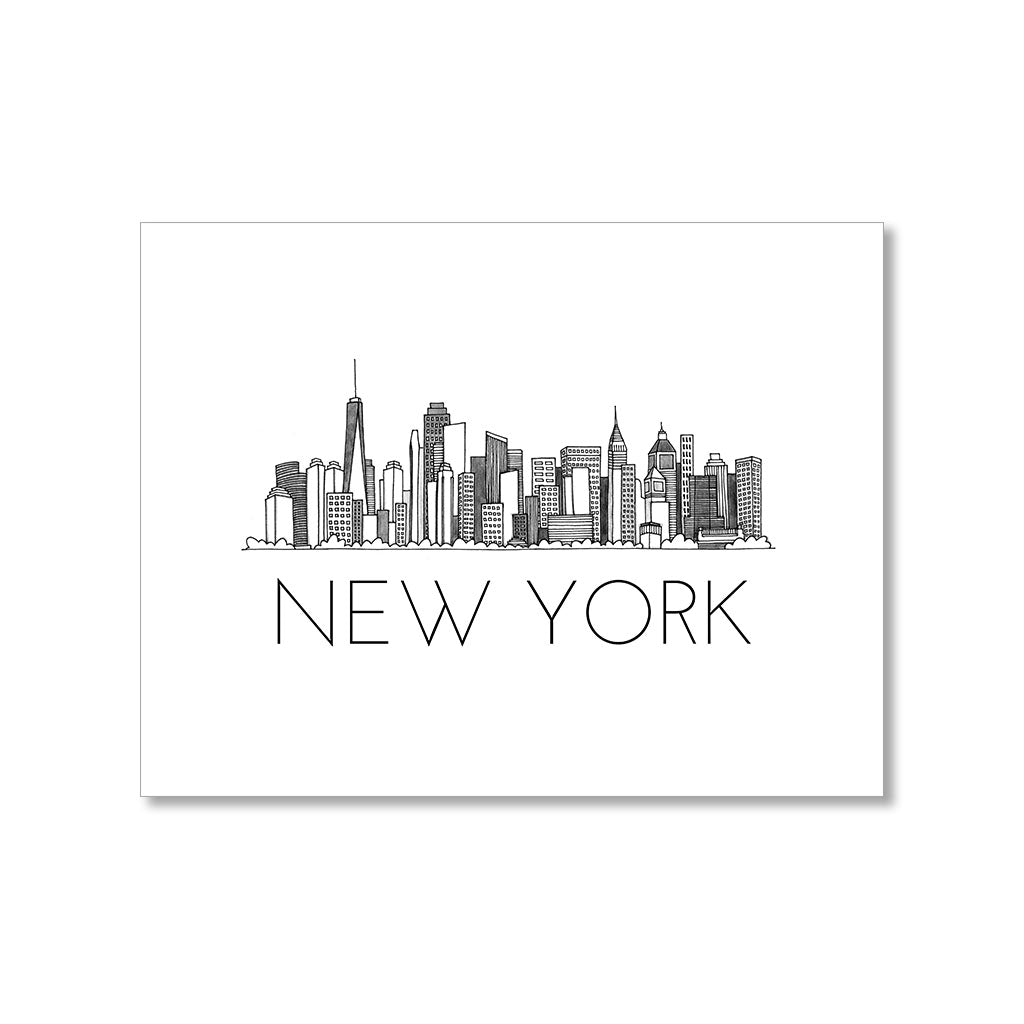 """NEW YORK SKYLINE"" BLANK CARD"