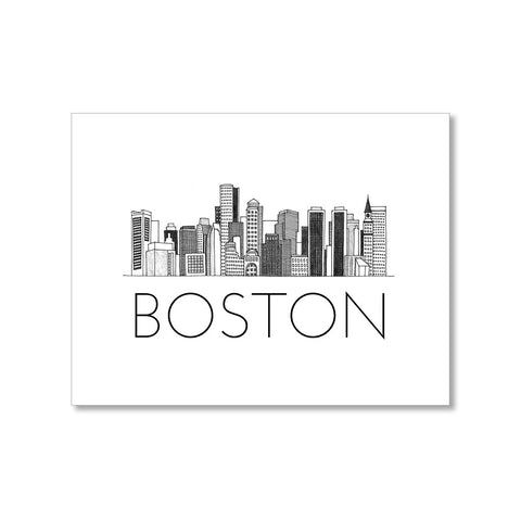 """BOSTON SKYLINE"" BLANK CARD"