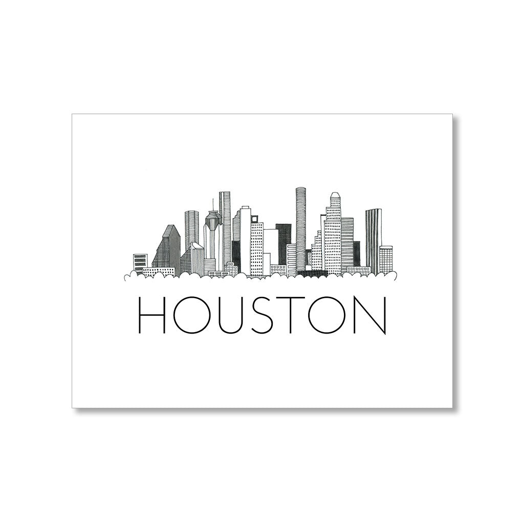 """HOUSTON SKYLINE"" BLANK CARD"