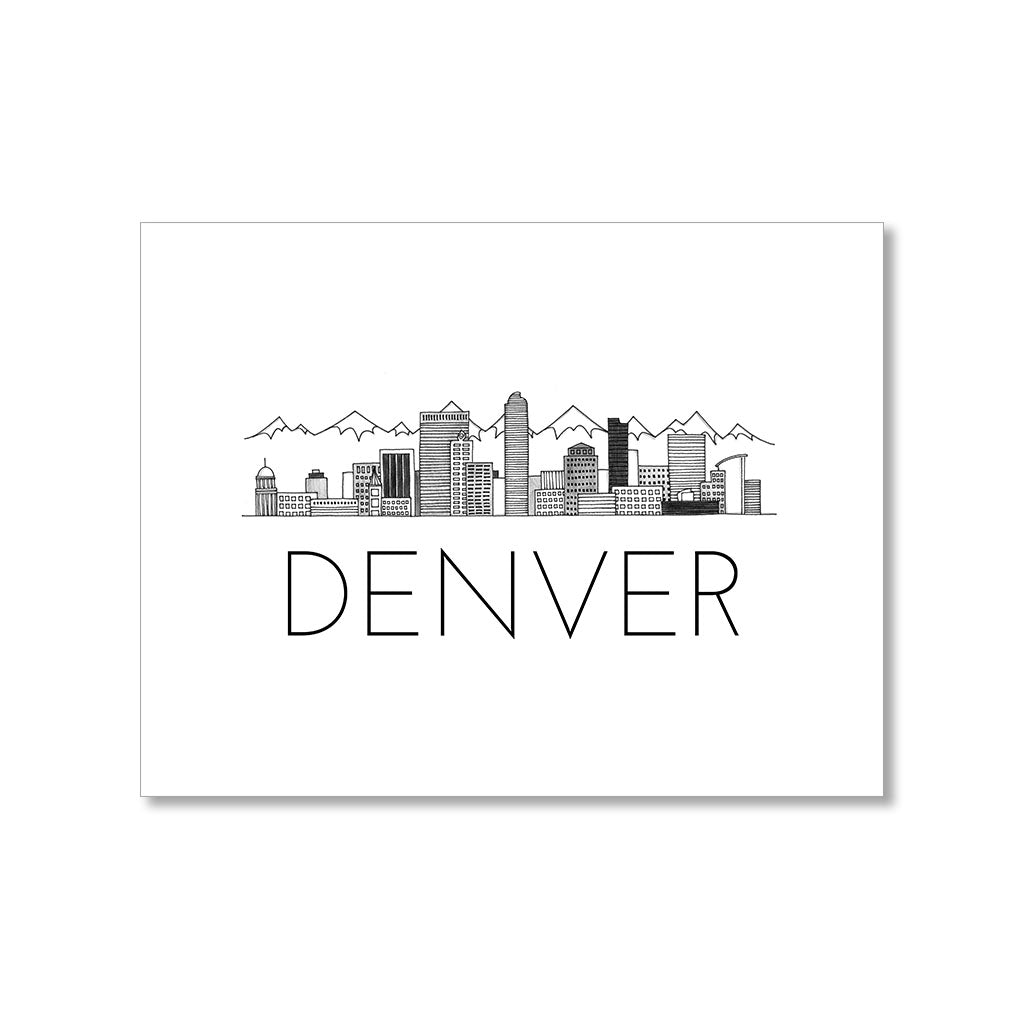 """DENVER SKYLINE"" BLANK CARD"