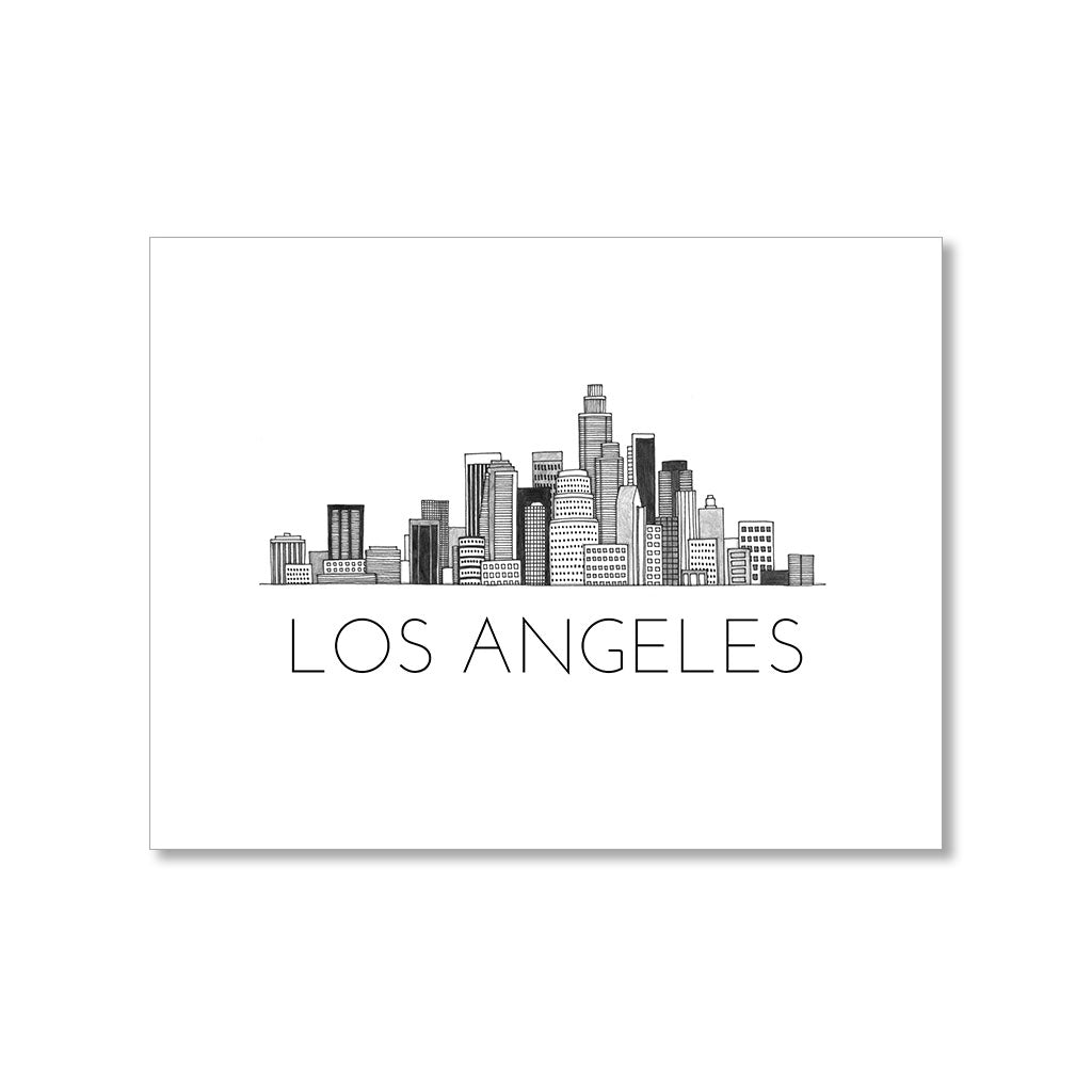 """LOS ANGELES SKYLINE"" BLANK CARD"
