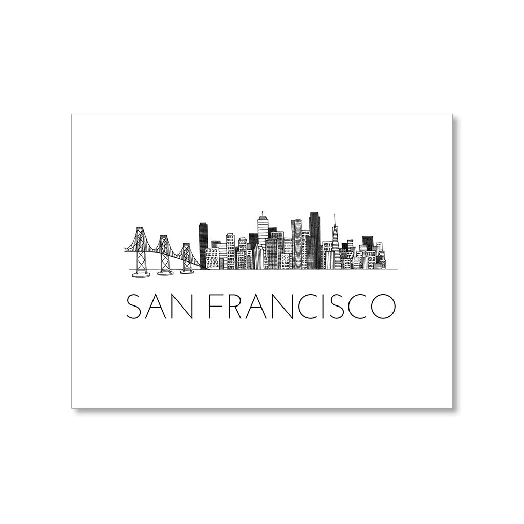 """SAN FRANCISCO SKYLINE"" BLANK CARD"