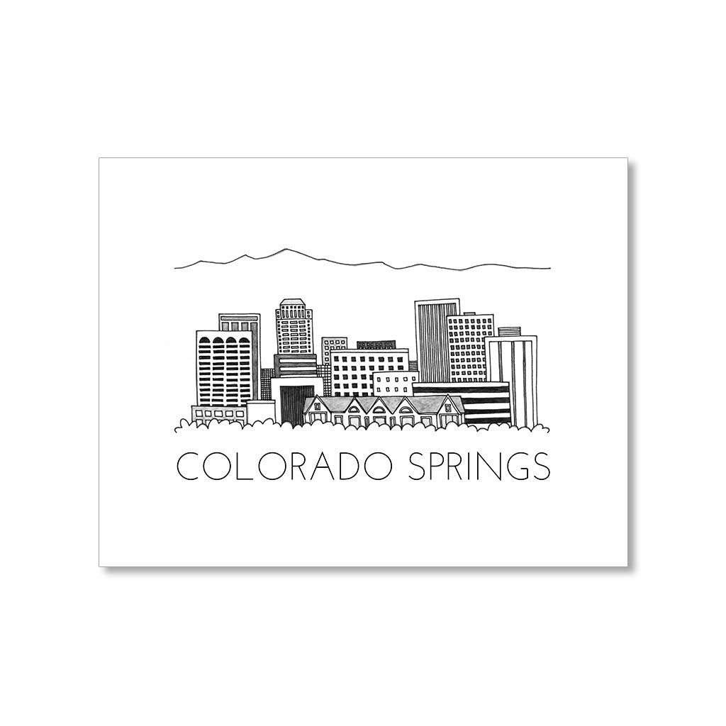 """COLORADO SPRINGS SKYLINE"" BLANK CARD"