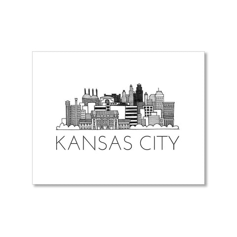 """KANSAS CITY SKYLINE"" BLANK CARD"