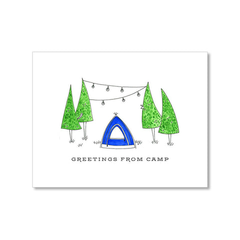 """UNDER THE TREES"" CAMP CARD"