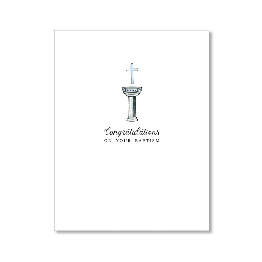 """BAPTISM"" CONGRATULATIONS CARD"