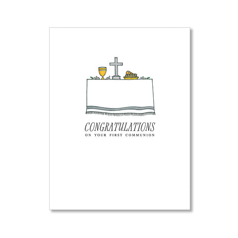 """FIRST COMMUNION"" CONGRATULATIONS CARD"