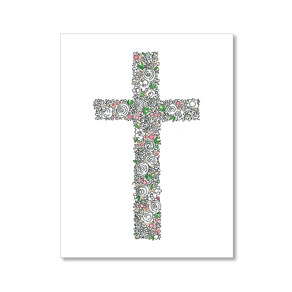"""FLORAL CROSS"" FAITH CARD"