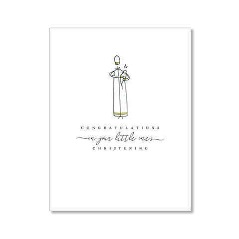 """CHRISTENING"" CONGRATULATIONS CARD"