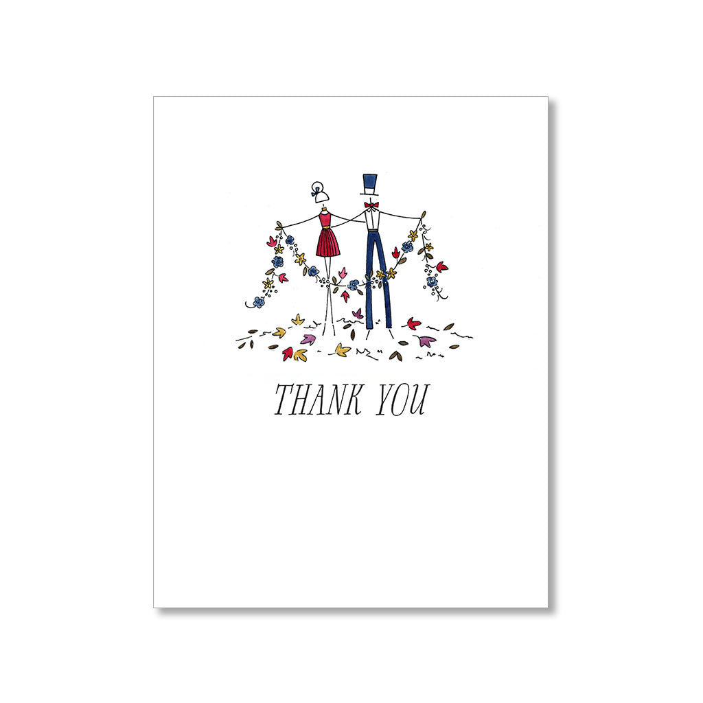 """FALL FLING"" THANK YOU CARD"