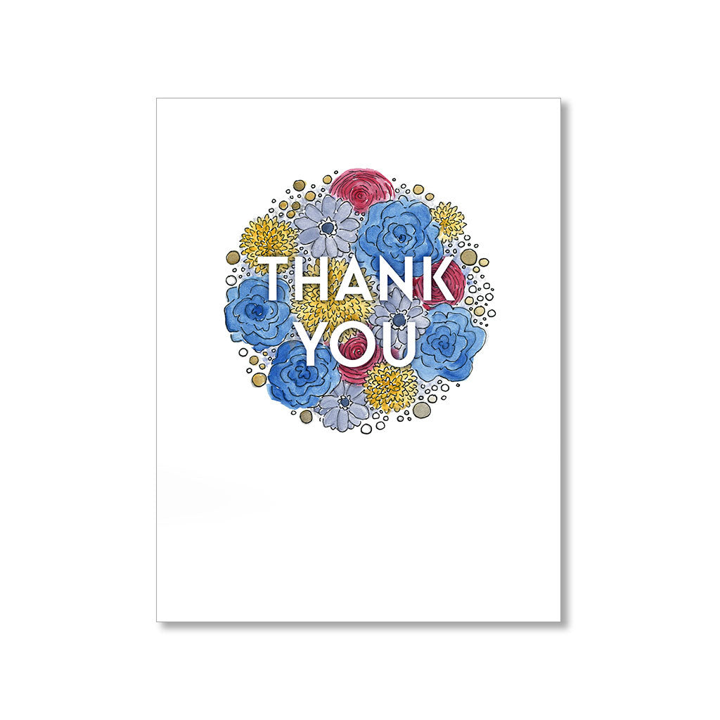 """FALL FLORALS"" THANK YOU CARD"