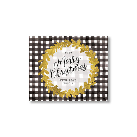 """GOLD & GINGHAM"" LIMITED EDITION PERSONALIZED GIFT TAG"