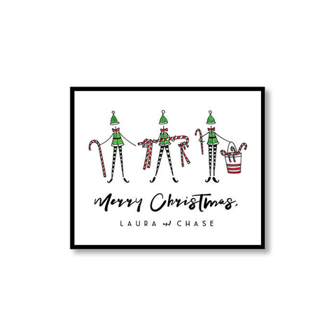 """THE ELVES"" PERSONALIZED GIFT TAG"