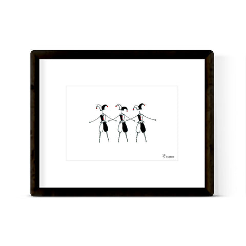 "NUTCRACKER ""HARLEQUIN"" ART PRINT"