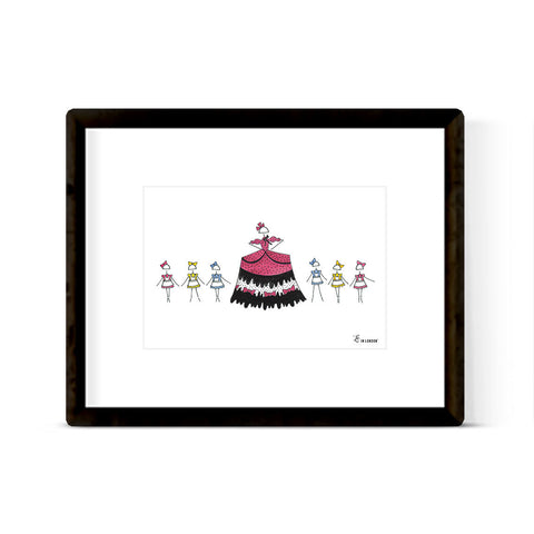 "NUTCRACKER ""MOTHER GINGER"" ART PRINT"
