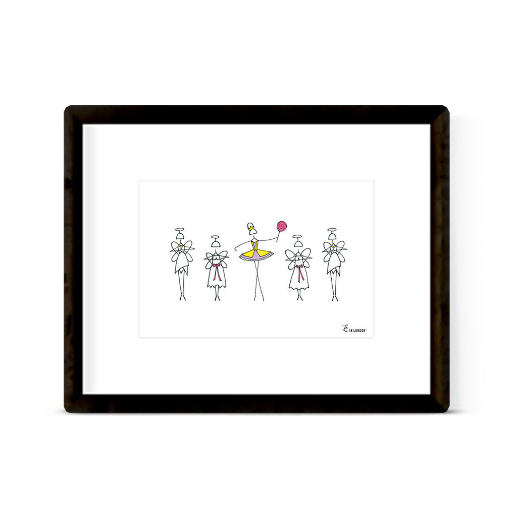 "NUTCRACKER ""SUGAR PLUM FAIRY"" ART PRINT"