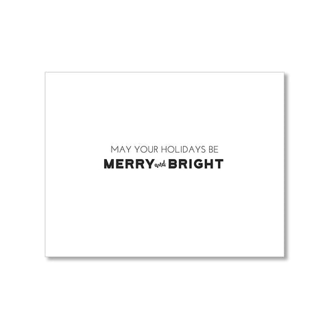 """MERRY & BRIGHT"" HOLIDAY CARD"