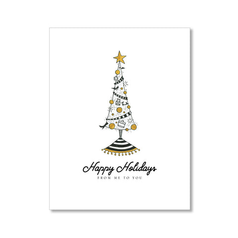 """SHOE TREE"" HOLIDAY CARD"