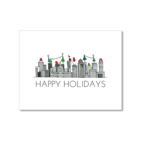 """DES MOINES SKYLINE"" HOLIDAY CARD"