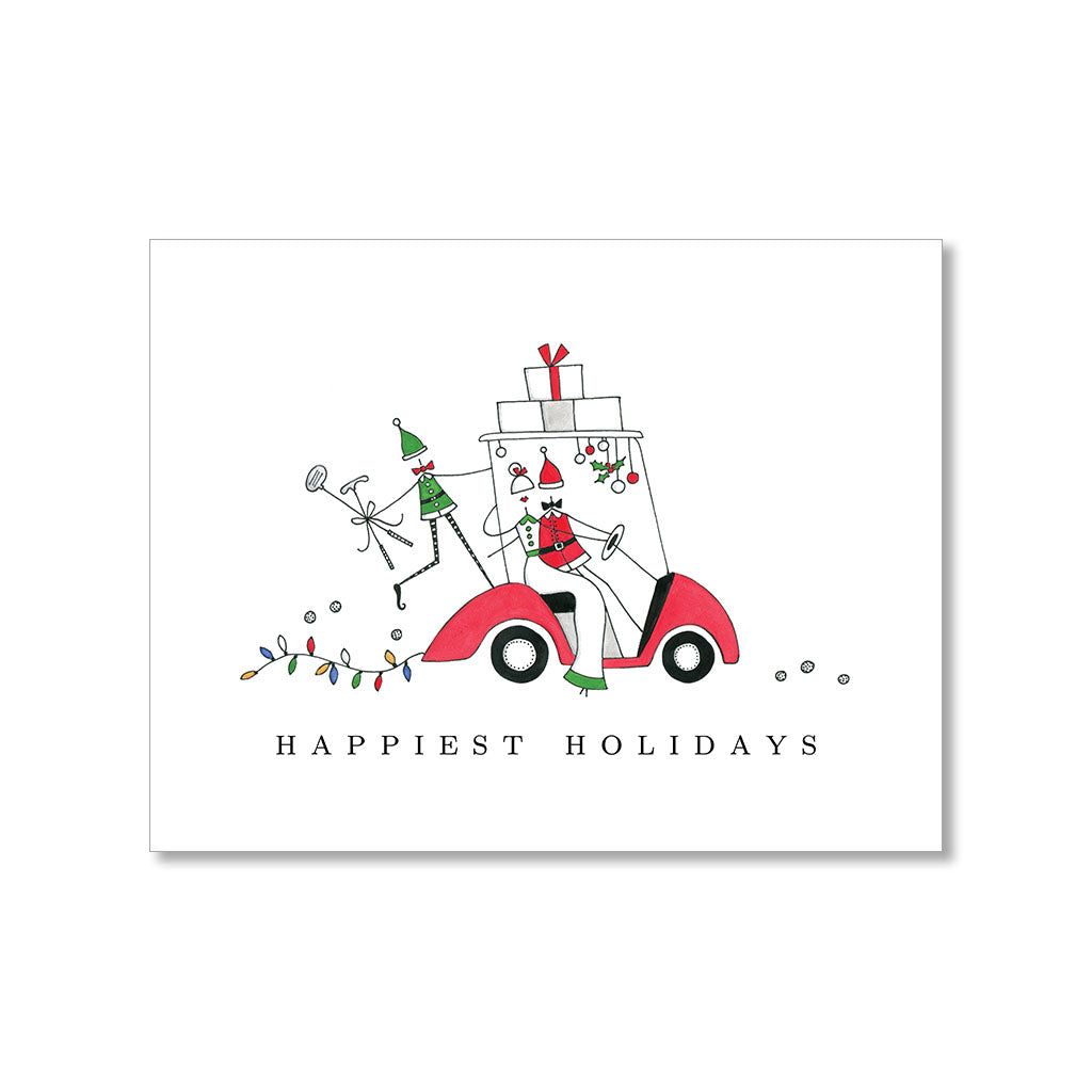 """A GOLF CART CHRISTMAS"" HOLIDAY CARD"